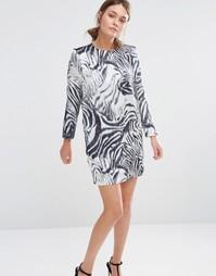 Цельнокройное платье с принтом зебры See U Soon