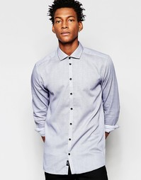 Рубашка на пуговицах с длинными рукавами Minimum - Темно-синий