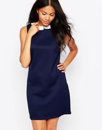 Жаккардовое платье с воротником Sugarhill Boutique Chloe - Темно-синий