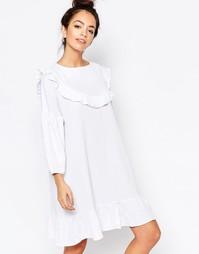 Платье с оборкой The WhitePepper