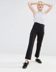 Строгие узкие брюки Monki - Черный