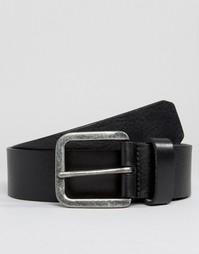 Черный кожаный ремень Royal RepubliQ Connect - Черный
