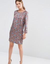 Цельнокройное платье с животным принтом See U Soon