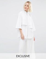 Рубашка на молнии со скрытым карманом House Of Sunny - Белый