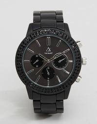 Часы с черными стразами ASOS - Черный