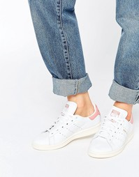 adidas Originals White And Pink Stan Smith Trainers - Белый