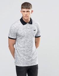 Серая футболка-поло с однотонным воротником Hollister - Серый