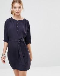 Свободное платье на пуговицах See U Soon - Темно-синий