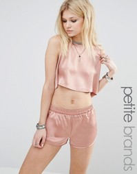 Glamorous Petite Satin Vest Co-Ord - Розовый