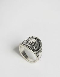 Кольцо со слоном Nylon - Шлифованный серебряный