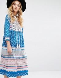 Нарядное платье миди Glamorous - Мульти