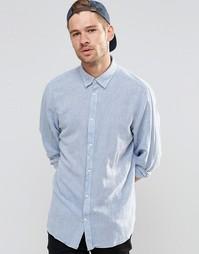 Рубашка из смешанного льна Selected Homme - Синий
