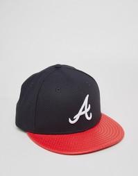Кепка New Era 59 Fifty Diamond Era Atlanta Braves - Черный