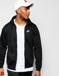 Черное худи Nike Club 804389-010 - Черный