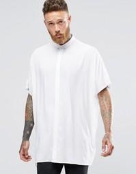 Белая oversize-рубашка с короткими рукавами и заниженной линией плеч A Asos