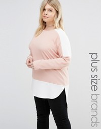 Топ в стиле колор блок AX Paris Plus - Blush