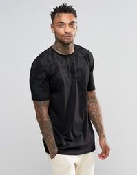 Черная футболка с камуфляжным принтом Kubban - Черный