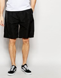 ASOS Oversized Shorts In Nylon With Pleat In Black - Черный