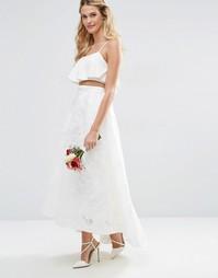 Пышная кружевная юбка для выпускного ASOS BRIDAL - Слоновая кость