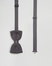 Вязаный галстук-бабочка Noose & Monkey - Серый