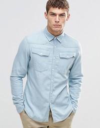 Джинсовая выбеленная рубашка в стиле вестерн G-Star 3301 - Выбеленный