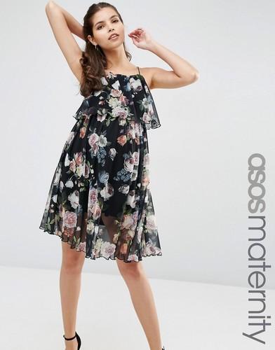 Свободное платье для беременных с цветочным принтом ASOS Maternity