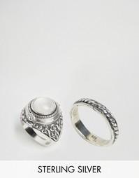 Кольцо отравителя с белым ониксом Rock N Rose Alma - Серебряный