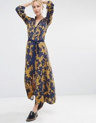 Платье макси с цветочным принтом Gestuz Audra - Мульти