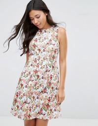 Платье с цветочным принтом Sugarhill Boutique Hatty - Светло-голубой