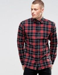 Рубашка в клетку Only & Sons - Красный