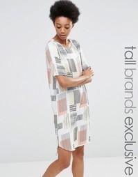 Платье-футболка с графическим принтом Adpt Tall - Мульти