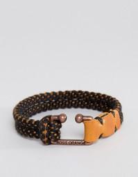 Браслет из шнурка Boss Orange Mendrix2 - Черный