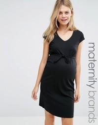 Платье для беременных с завязкой на талии Mamalicious Maternity Mama.Licious