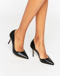 Туфли-лодочки с вырезами New Look - Черный ящер Aldo