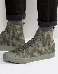 Высокие кроссовки из искусственной замши ASOS - Зеленый