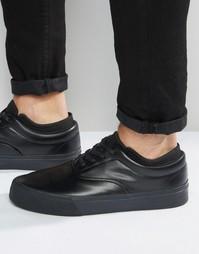 Черные кеды на шнуровке с неопреновой подкладкой ASOS - Черный