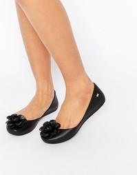 Туфли с цветком Zaxy - Черный