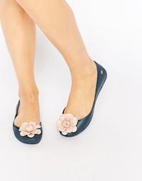 Туфли с цветком Zaxy - Navy contrast