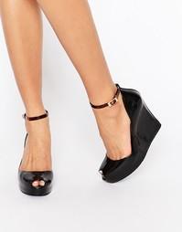 Туфли с танкеткой и ремешком Melissa Patchuli - Черный