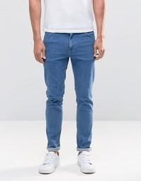 Синие зауженные джинсы в стиле ретро ASOS - Умеренный синий