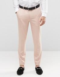 Розовые облегающие брюки ASOS - Mahogony rose
