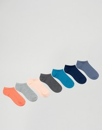 7 пар носков‑подследников ASOS - Мульти