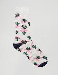 Носки с кактусовым принтом Urban Eccentric - Серый