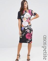 Платье-футболка с цветочным принтом ASOS PETITE - Мульти
