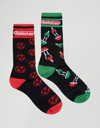 Комплект из 2 пар носков с футбольным дизайном ASOS - Мульти