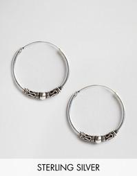 Серебряные серьги-кольца 18 мм Kingsley Ryan - Серебряный