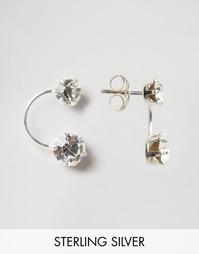 Двойные серебряные серьги-подвески Kingsley Ryan - Серебряный