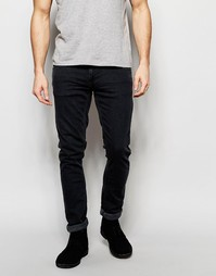 Черные джинсы скинни Nudie Jeans Long John - Grey on grey (серый)