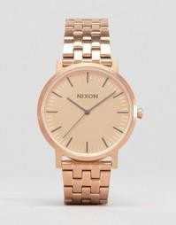 Золотисто-розовые наручные часы Nixon Porter - Золотой