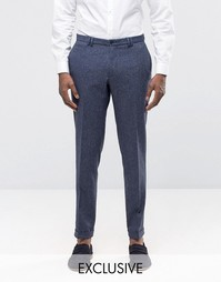 Суперзауженные брюки с отворотами Noak - Темно-синий